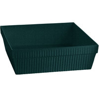Tablecraft CW1494HGNS 24 Qt. Hunter Green with White Speckle Cast Aluminum Square Bowl