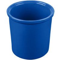 Tablecraft CW1665CBL 1.25 Qt. Cobalt Blue Cast Aluminum Condiment Bowl