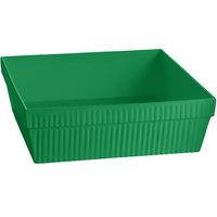 Tablecraft CW1494GN 24 Qt. Green Cast Aluminum Square Bowl