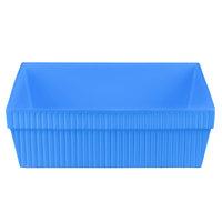 Tablecraft CW1494CBL 24 Qt. Cobalt Blue Cast Aluminum Square Bowl