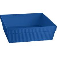 Tablecraft CW1494BL 24 Qt. Cobalt Blue Cast Aluminum Square Bowl