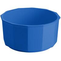 Tablecraft CW1810CBL 8.5 Qt. Cobalt Blue Cast Aluminum Prism Bowl