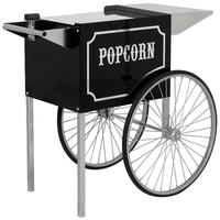 Paragon 3070820 1911 Original Series Black and Chrome Popcorn Cart for 6 oz. and 8 oz. Poppers