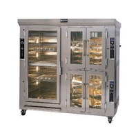 Doyon CAOP12G Liquid Propane Two Section Circle Air Oven / Proofer Combo with Rotating Racks - 157,000 BTU
