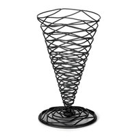 Tablecraft BK159 Artisan 5 1/4 inch x 9 inch Appetizer Wire Cone Basket