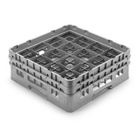 Cambro 16S958-151 Camrack Customizable 10 1/8 inch High Customizable Gray 16 Compartment Glass Rack