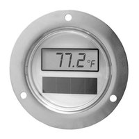 All Points 62-1128 2 inch Solar Powered Digital Thermometer with Front Flange and 108 inch Capillary