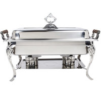 8 Qt. Rectangular Full Size Chafer with Dome Cover
