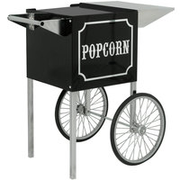 Paragon 3080820 Small Black and Chrome Popcorn Cart for 4 oz. Poppers