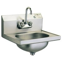 Eagle Group HSA-10-F-MG MicroGard Hand Sink with Gooseneck Faucet and Basket Drain