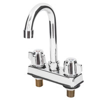 Deck Mount Faucet with 4 inch Centers and 6 inch Gooseneck Nozzle