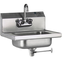 Eagle Group HSA-10-FL Hand Sink with Gooseneck Faucet and Polymer Lever Drain