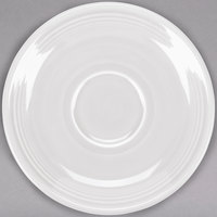Homer Laughlin 470100 Fiesta White 5 7/8 inch Saucer - 12/Case