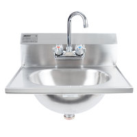 Eagle Group HSA-10-F Hand Sink with Gooseneck Faucet and Basket Drain