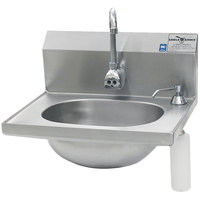 Eagle Group HSA-10-FE-B-DS Hand Sink with Faucet, Soap Dispenser, and Basket Drain