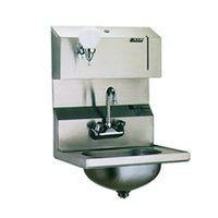 Eagle Group HSA-10-FDP-MG MicroGard Hand Sink with Gooseneck Faucet, Towel Dispenser, Soap Dispenser, and Basket Drain