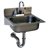 Eagle Group HSAE-10-FA Hand Sink with Gooseneck Faucet, Basket Drain, P-Trap, and Tail Piece
