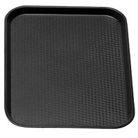 Cambro 1418FF110 Black 14 inch x 18 inch Customizable Fast Food Tray 12/Case