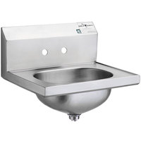 Eagle Group HSA-10 Hand Sink with 4 inch Faucet Center Holes and Basket Drain