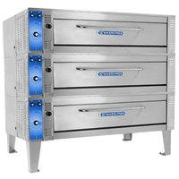 Bakers Pride ER-3-12-5736 74 inch Triple Deck Electric Roast / Bake Oven - 220-240V, 3 Phase