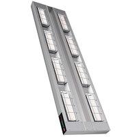 Hatco UGAH-66D Ultra-Glo 66 inch x 15 inch High Watt Double Strip Infrared Warmer with Remote Toggle Control Box - 5400W