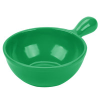 Tablecraft CW3370GN 8 oz. Green Cast Aluminum Soup Bowl with Handle