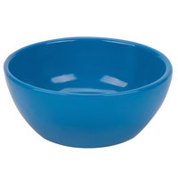 Tablecraft CW11082SBL 10.5 oz. Sky Blue Cast Aluminum Small Round Display Bowl
