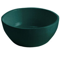 Tablecraft CW11082BKGS 10.5 oz. Black with Green Speckle Cast Aluminum Small Round Display Bowl