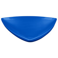 Tablecraft CW11006CBL 11 inch Cobalt Blue Cast Aluminum Triangle Display Bowl