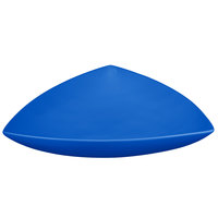 Tablecraft CW11006CBL 11 inch Cobalt Blue Cast Aluminum Triangle Display Bowl