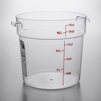 Cambro RFSCW18135 Camwear 18 Qt. Clear Round Food Storage Container