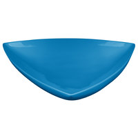 Tablecraft CW11006SBL 11 inch Sky Blue Cast Aluminum Triangle Display Bowl