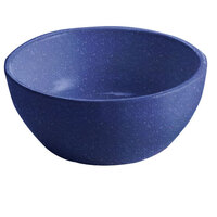 Tablecraft CW11082BS 10.5 oz. Blue Speckle Cast Aluminum Small Round Display Bowl