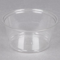 Fabri-Kal Alur RD5 5 oz. Recycled Customizable Clear PET Plastic Round Deli Container 50 / Pack