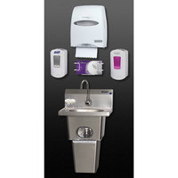 Eagle Group HFL-5000-LRS Touch Free Hand Washing System with Waste Bin and End Splashes