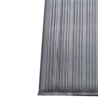 Ribbed Gray Tredlite Vinyl Anti-Fatigue Mat 27 inch x 60 inch - 3/8 inch Thick