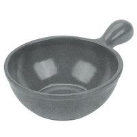 Tablecraft CW3370GR 8 oz. Granite Cast Aluminum Soup Bowl with Handle