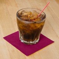 Hoffmaster 180324 Burgundy Beverage / Cocktail Napkin - 1000/Case