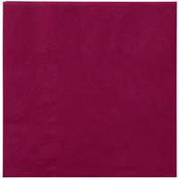 Hoffmaster 180324 Burgundy Beverage / Cocktail Napkin - 1000/Case