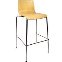BFM Seating JA601BS-NT Rita Natural Laminate Bar Height Chair