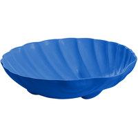 Tablecraft CW17025BL D 6 Gallon Cobalt Blue Cast Aluminum Large Shell Bowl