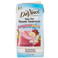 DaVinci Gourmet Strawberry Banana Non-Fat Yogurt Fruit Smoothie Mix - 64 oz.