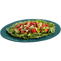 Tablecraft CW12025HGN 19 inch x 15 inch Hunter Green Cast Aluminum Wide Rim Oval Display Platter