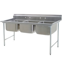 Eagle Group 414-24-3 Three 24 inch Bowl Stainless Steel Commercial Compartment Sink