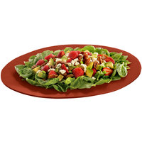 Tablecraft CW12025CP 19 inch x 15 inch Copper Cast Aluminum Wide Rim Oval Display Platter