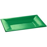 Tablecraft CW12027GN 18 inch x 13 inch Green Cast Aluminum Wide Rim Rectangle Platter
