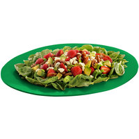 Tablecraft CW12025GN 19 inch x 15 inch Green Cast Aluminum Wide Rim Oval Display Platter