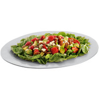 Tablecraft CW12025N 19 inch x 15 inch Natural Cast Aluminum Wide Rim Oval Display Platter