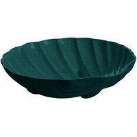 Tablecraft CW17025HGNS D 6 Gallon Hunter Green with White Speckle Cast Aluminum Large Shell Bowl