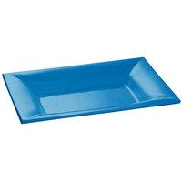 Tablecraft CW12027SBL 18 inch x 13 inch Sky Blue Cast Aluminum Wide Rim Rectangle Platter
